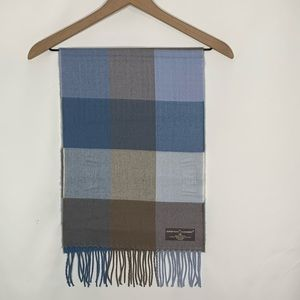 NWT Blue & Tan check softer then cashmere scarf